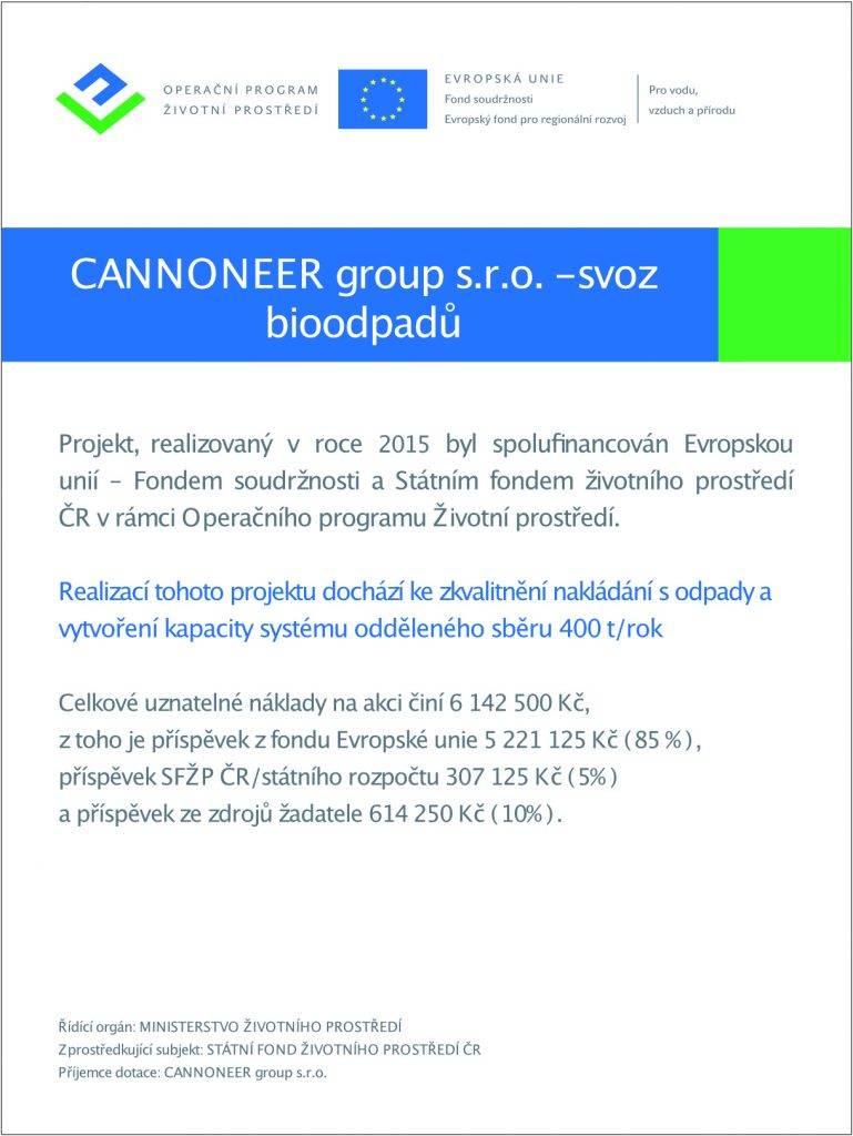 svoz bioodpadu certifikát Cannoneer